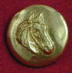 Horse, right facing Bronze Button