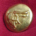 Saddle Bronze Button