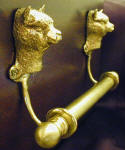 "Alpaca Brackets with 5/8"" Towel Rod, side view"