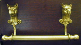 "Alpaca Brackets with 5/8"" Towel Rod"