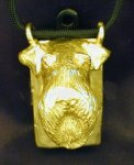 Airedale Terrier Clicker Pendant, front view