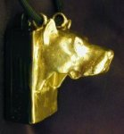 American Pit Bull Terrier Clicker Pendant, side view