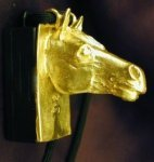 Horse Clicker Pendant, side view