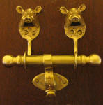 Wild Boar Duet Door Knocker