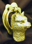 Alpaca Door Knocker, side view