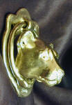 Cougar Door Knocker, side view
