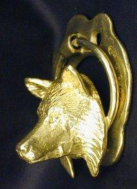Wolf page - Wolf head door knocker ...