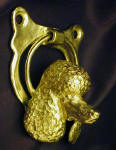 Standard Poodle Door Knocker, side view