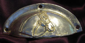Hunting Horse Horizontal Drawer Pull, right facing