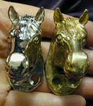 Horse Deluxe! Finger Pulls, nickel plated and bronze, frontal