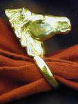 Icelandic Horse Napkin Ring, side view