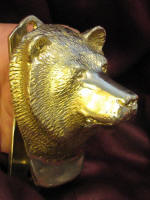 Bear Large Door Knocker, other 3/4 view