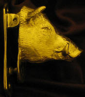 Wild Boar Large Door Knocker, side view