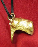 Airedale Pendant, side view