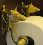 Wild Boar Toilet Paper Holder, side view