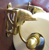 Dolphin Toilet Paper Holder, side view