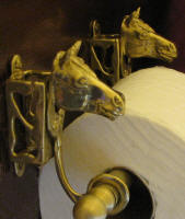 Horse Toilet Paper Holder, side view