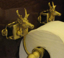 Pronghorn Antelope Toilet Paper Holder, side view