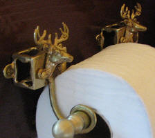 Whitetail Buck Toilet Paper Holder, side view