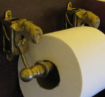 Airedale Terrier Toilet Paper Holder, side view