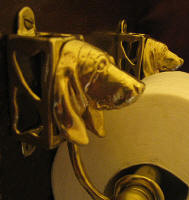 Basset Hound Toilet Paper Holder, side view