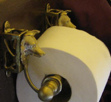 Border Collie Toilet Paper Holder, side view