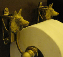 Belgisn Sheepdog Toilet Paper Holder, side view
