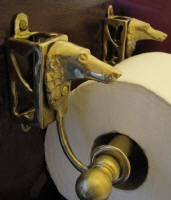Borzoi Toilet Paper Holder, side view