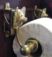 Papillon Toilet Paper Holder, side view