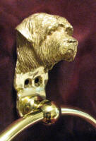 Norfolk Terrier Large Towel Ring, close up, 3/4 view