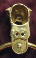 Norfolk Terrier Large Towel Ring, close up, back view