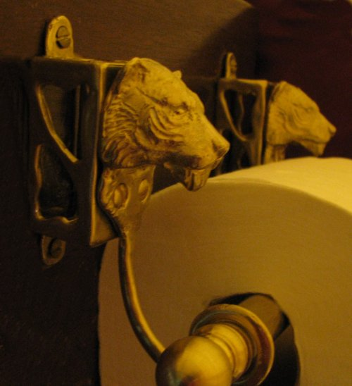 Tiger Toilet Paper Holder Side View